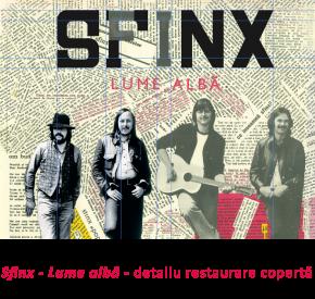 Sinx - Lume albă - detaliu restaurare copertă